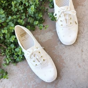 Shoes - Kate Spade x Keds Ivory Embroidered Polka Dot Shoe